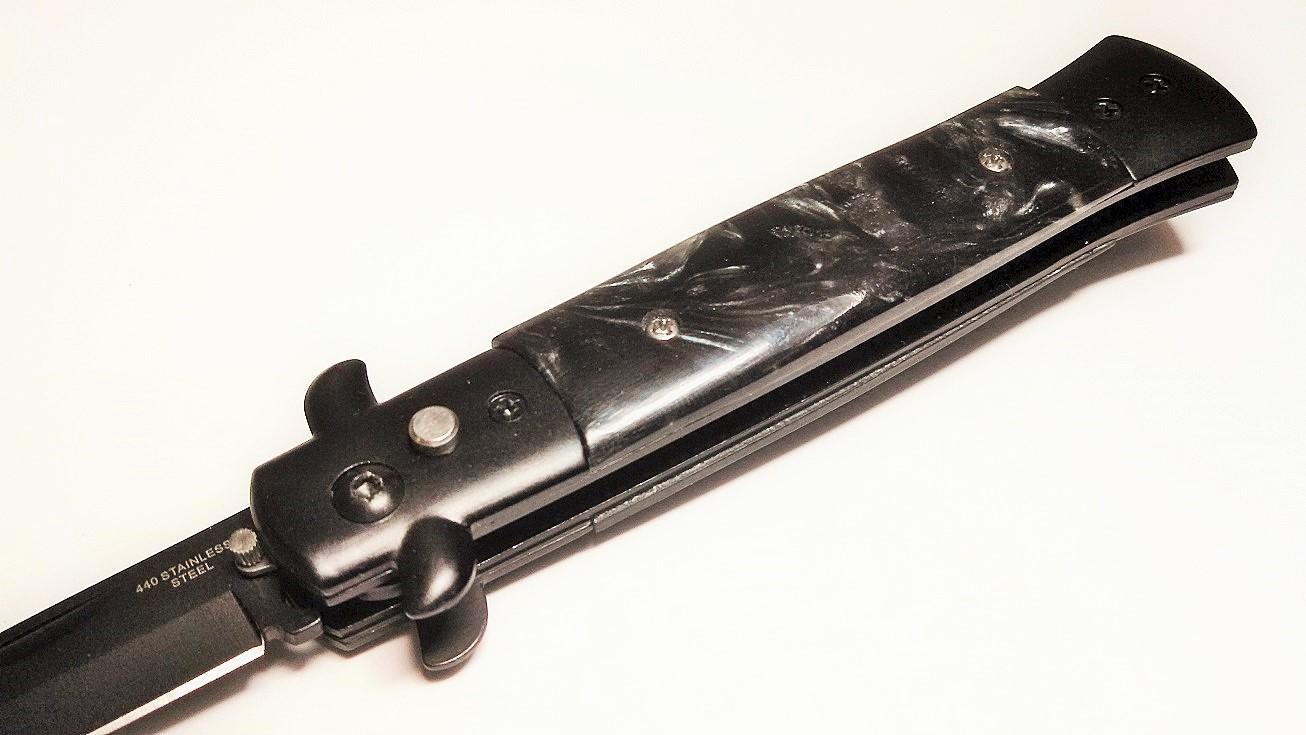 Black Tactical Diablo Milano Automatic Stiletto