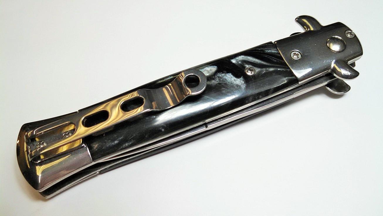 12 PC Black Pearl Milano Automatic Stiletto